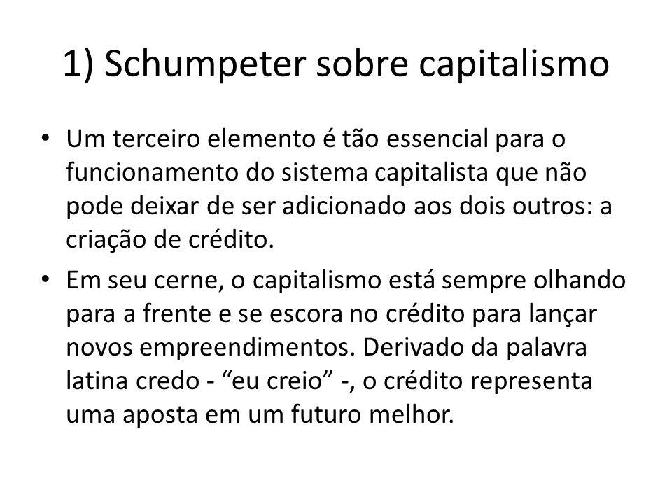 1) Schumpeter sobre capitalismo