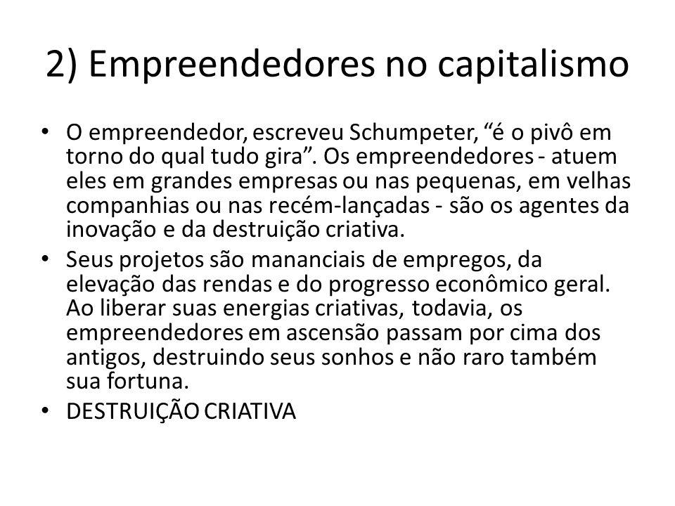 2) Empreendedores no capitalismo