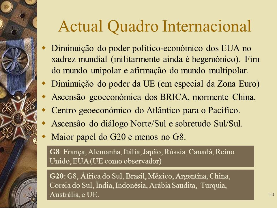 Actual Quadro Internacional