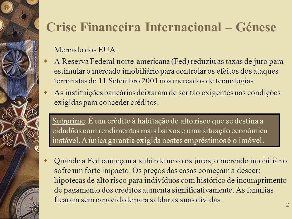 Crise Financeira Internacional – Génese