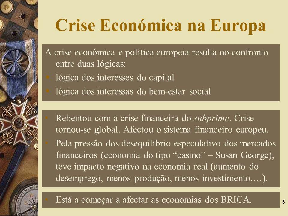 Crise Económica na Europa