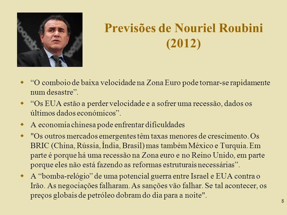 Previsões de Nouriel Roubini (2012)