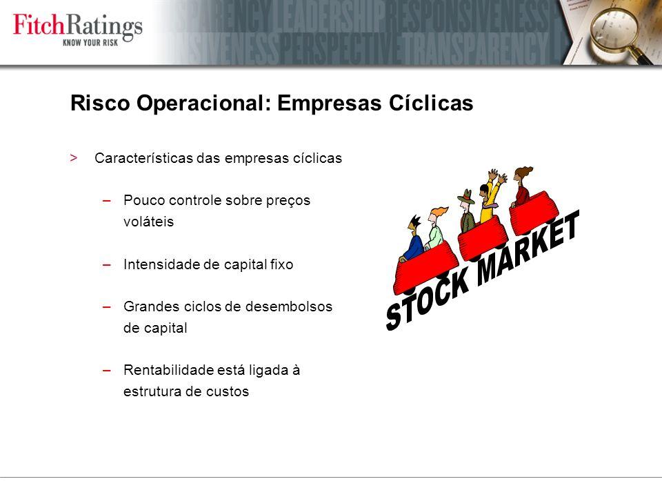 Risco Operacional: Empresas Cíclicas