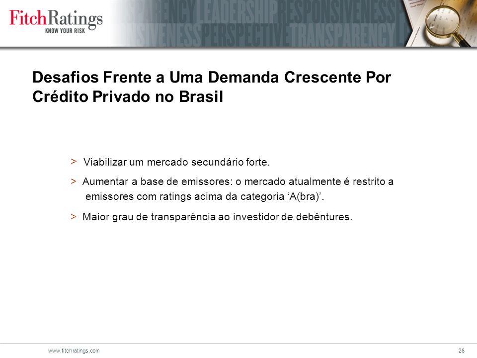 Desafios Frente a Uma Demanda Crescente Por Crédito Privado no Brasil