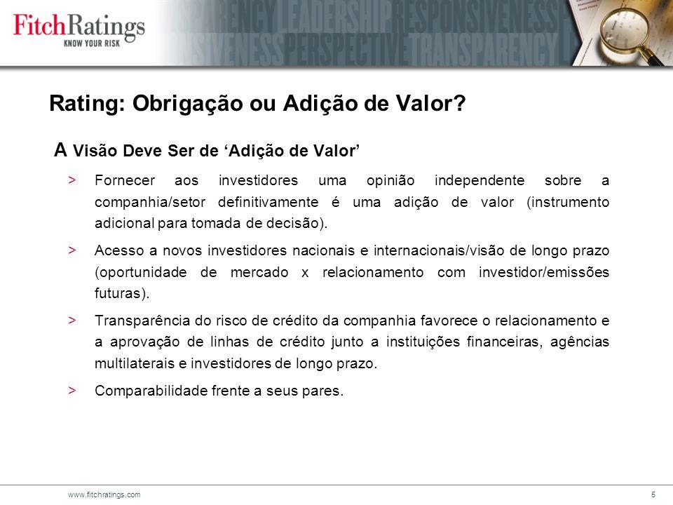 Rating: Obrigação ou Adição de Valor