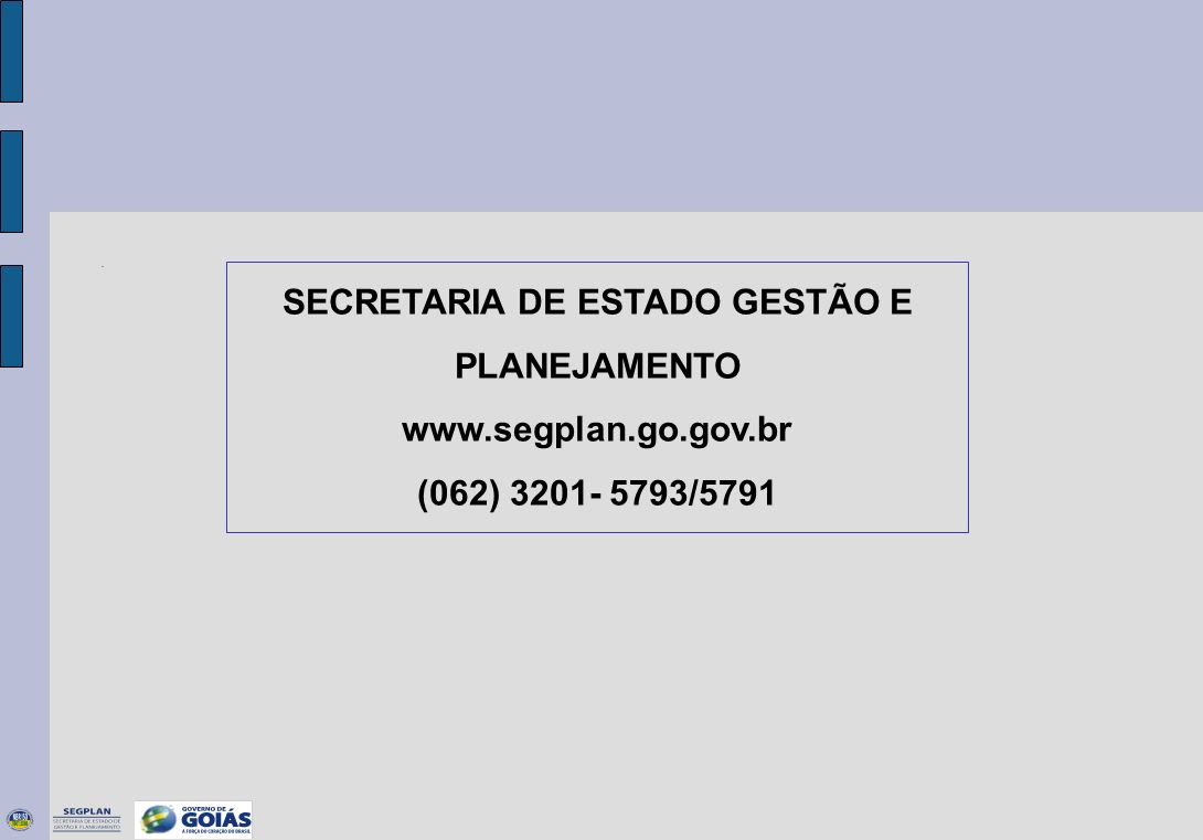 SECRETARIA DE ESTADO GESTÃO E PLANEJAMENTO