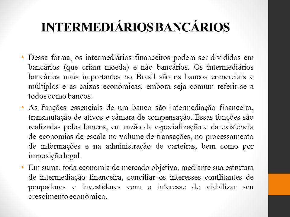 INTERMEDIÁRIOS BANCÁRIOS