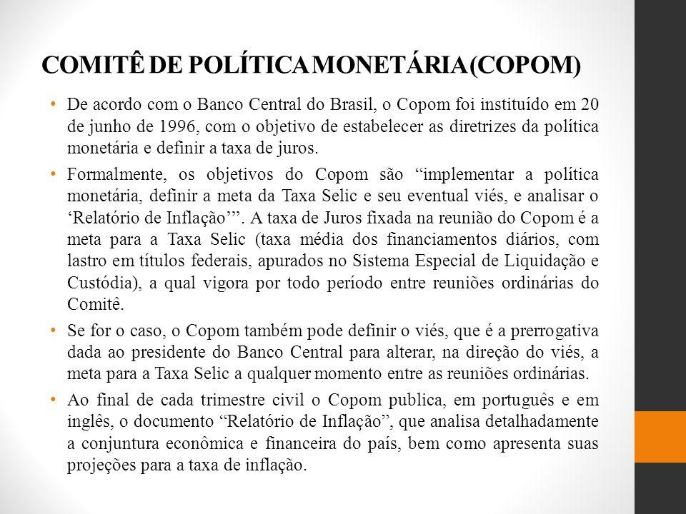 COMITÊ DE POLÍTICA MONETÁRIA (COPOM)