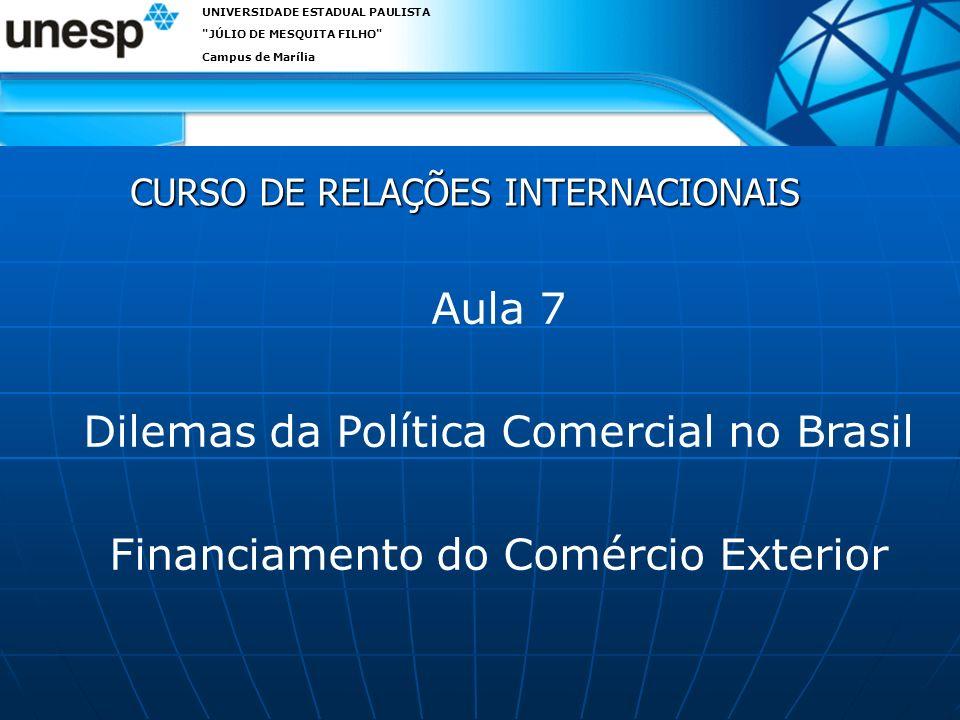 CURSO DE RELAÇÕES INTERNACIONAIS
