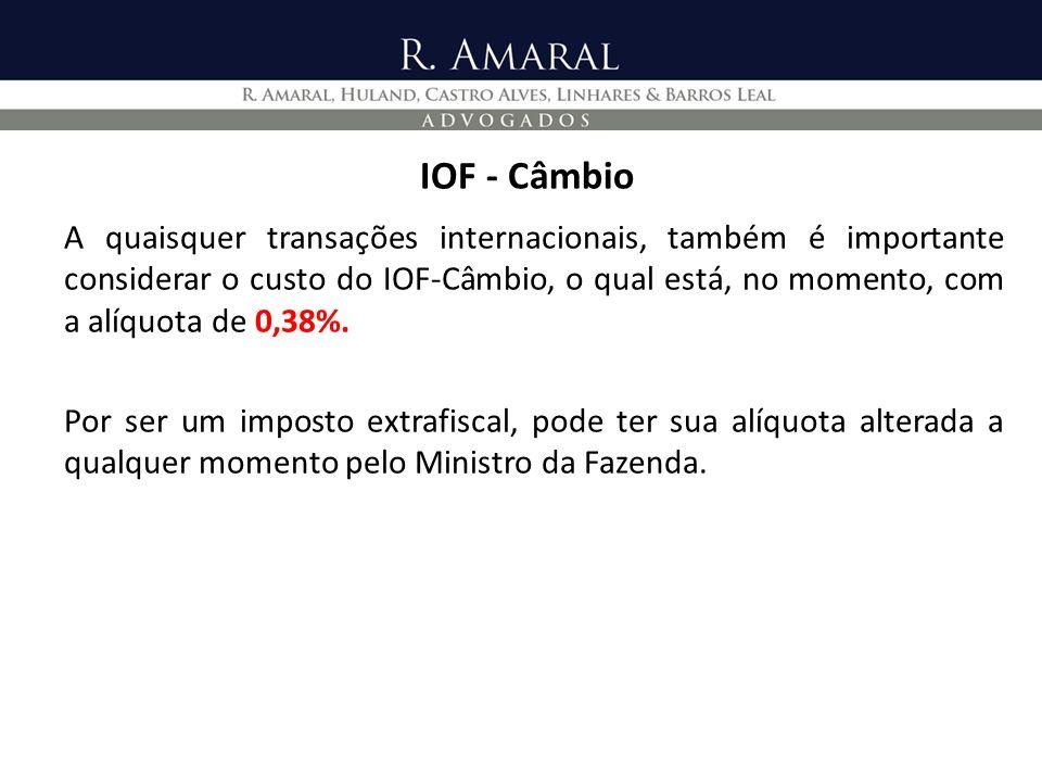 IOF - Câmbio