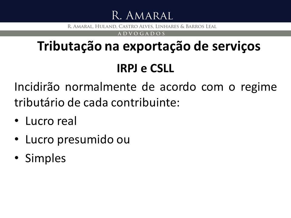 Tributação na exportação de serviços