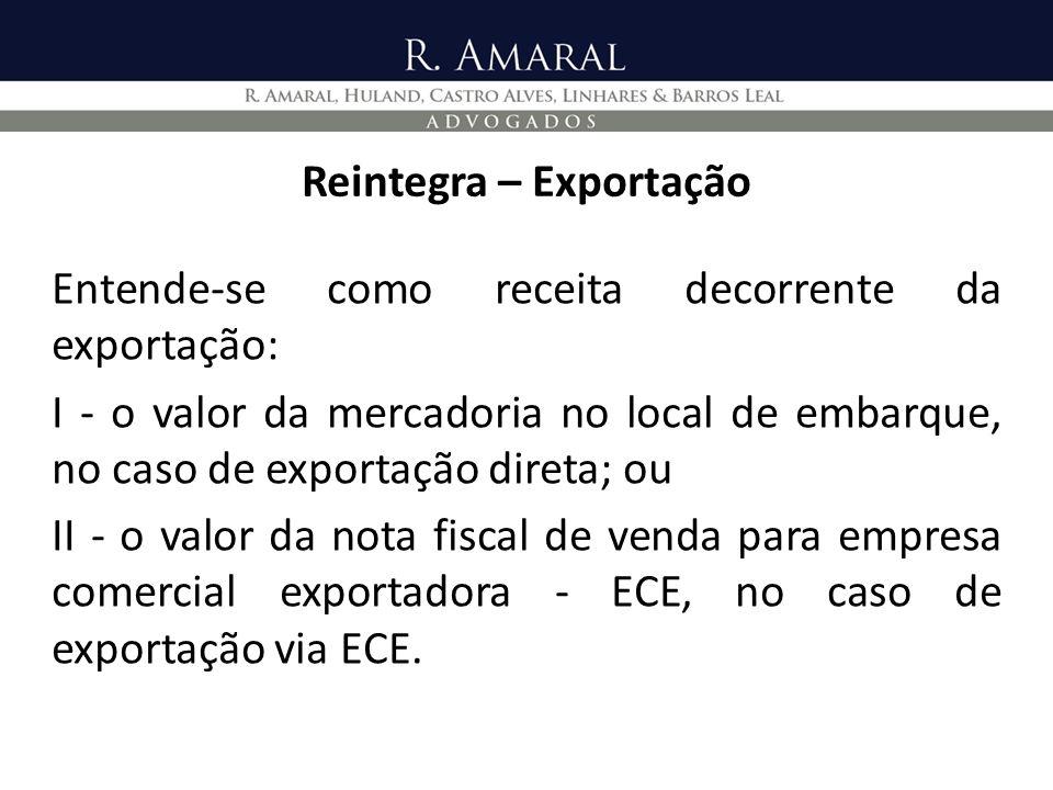 Reintegra – Exportação