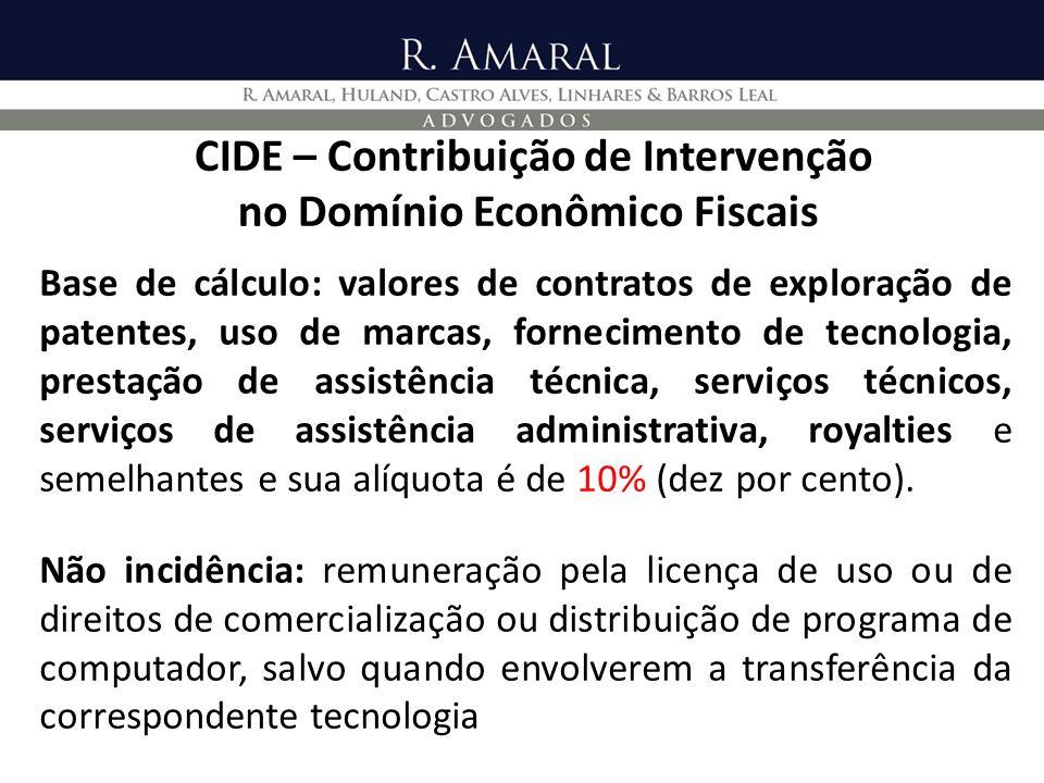 CIDE – Contribuição de Intervenção no Domínio Econômico Fiscais