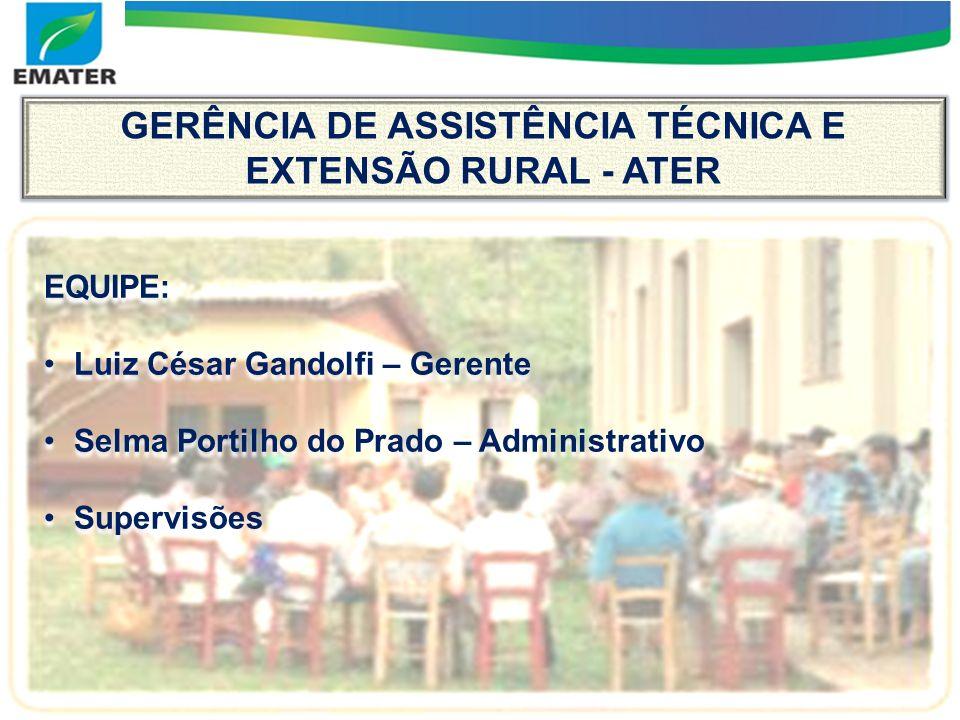 GERÊNCIA DE ASSISTÊNCIA TÉCNICA E EXTENSÃO RURAL - ATER