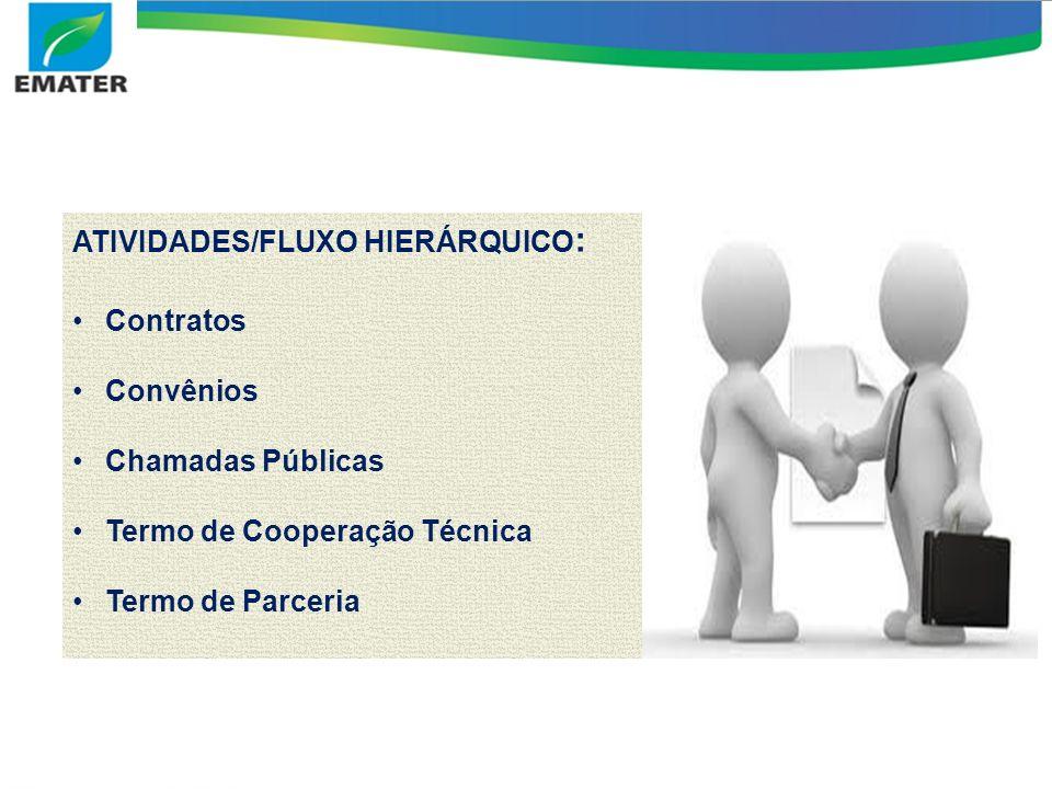 ATIVIDADES/FLUXO HIERÁRQUICO: