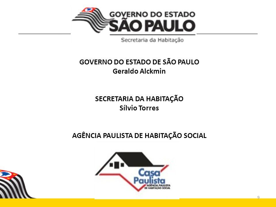 GOVERNO DO ESTADO DE SÃO PAULO Geraldo Alckmin