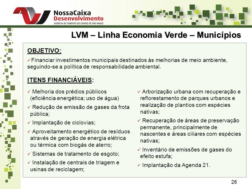 LVM – Linha Economia Verde – Municípios
