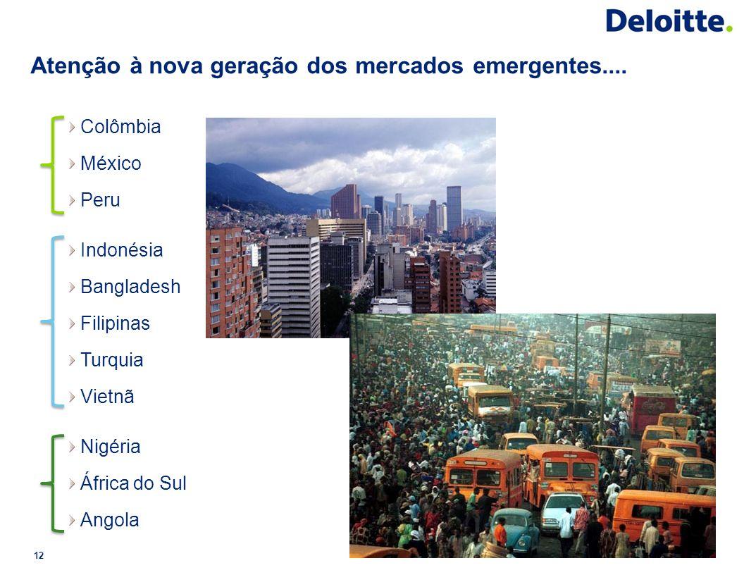 Atenção à nova geração dos mercados emergentes....