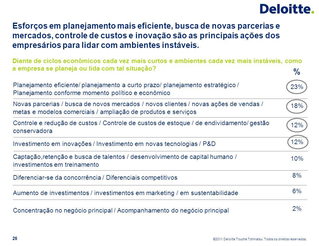 Esforços em planejamento mais eficiente, busca de novas parcerias e mercados, controle de custos e inovação são as principais ações dos empresários para lidar com ambientes instáveis.