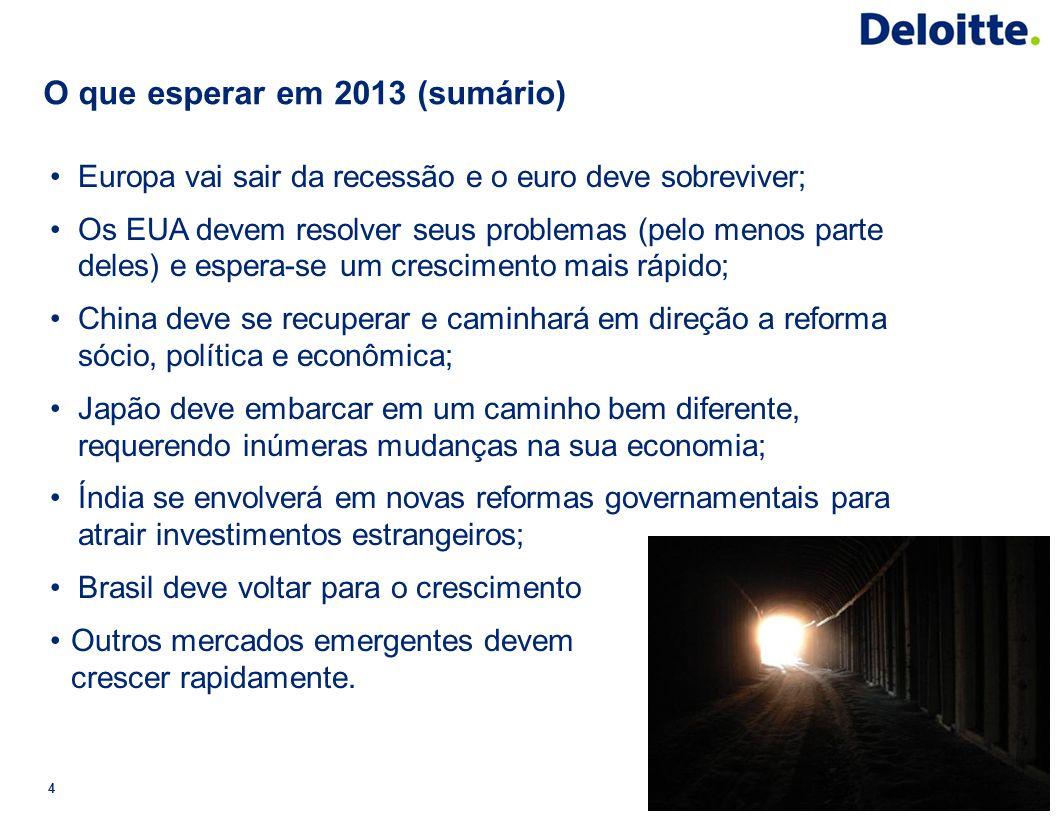 O que esperar em 2013 (sumário)
