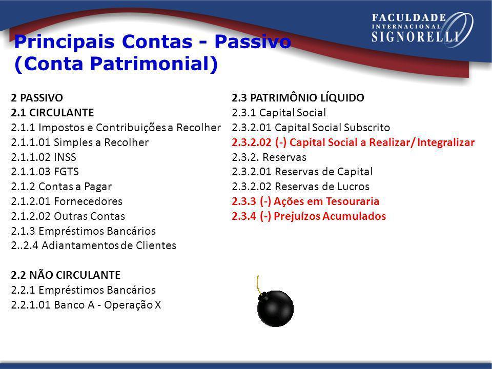 Principais Contas - Passivo (Conta Patrimonial)