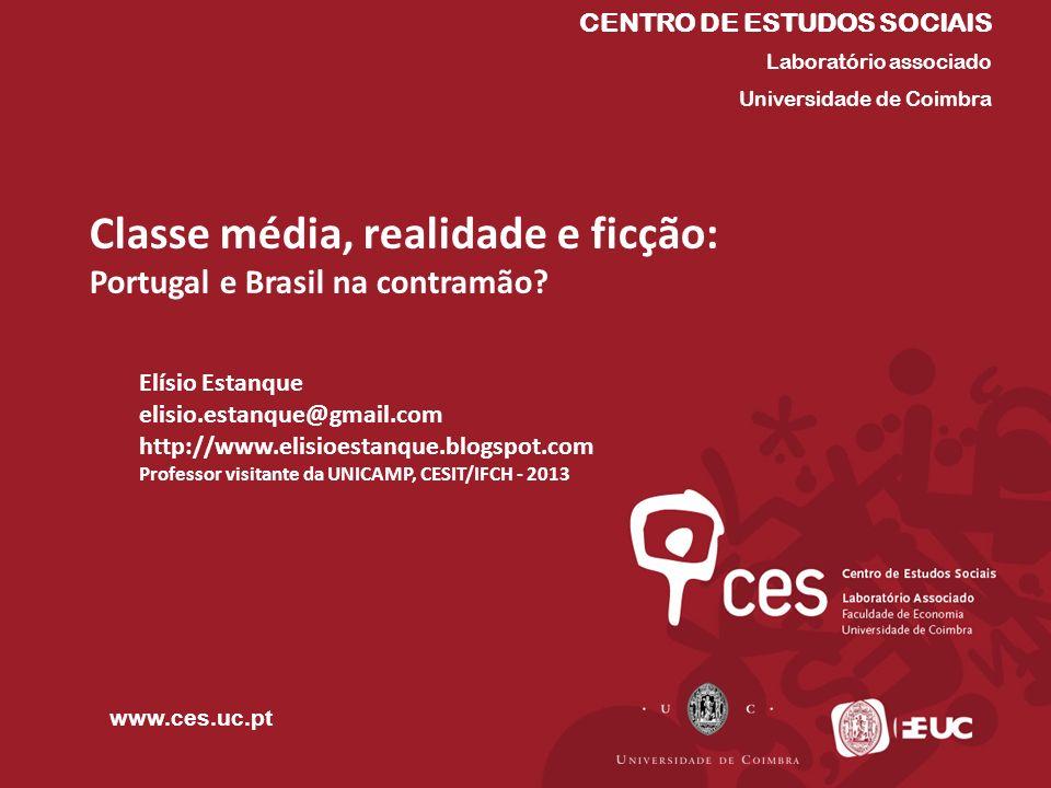 Classe média, realidade e ficção: Portugal e Brasil na contramão