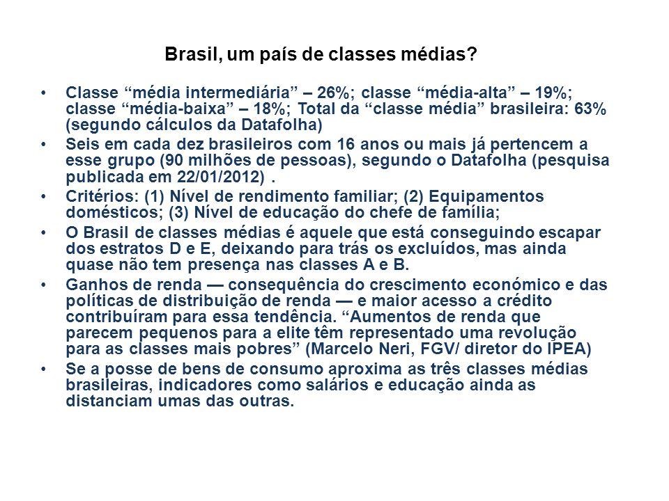 Brasil, um país de classes médias