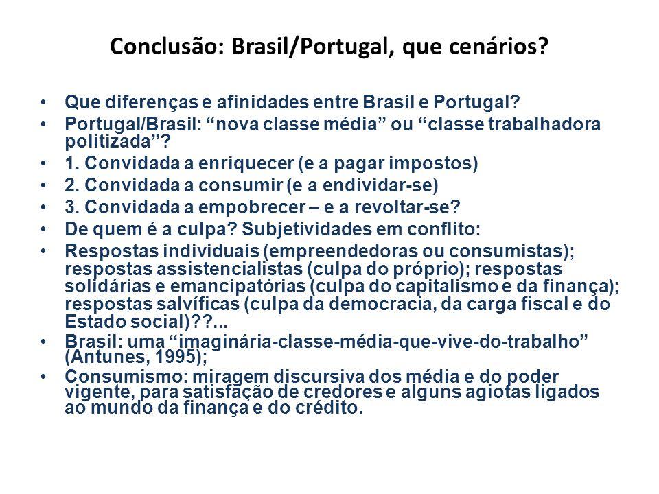 Conclusão: Brasil/Portugal, que cenários