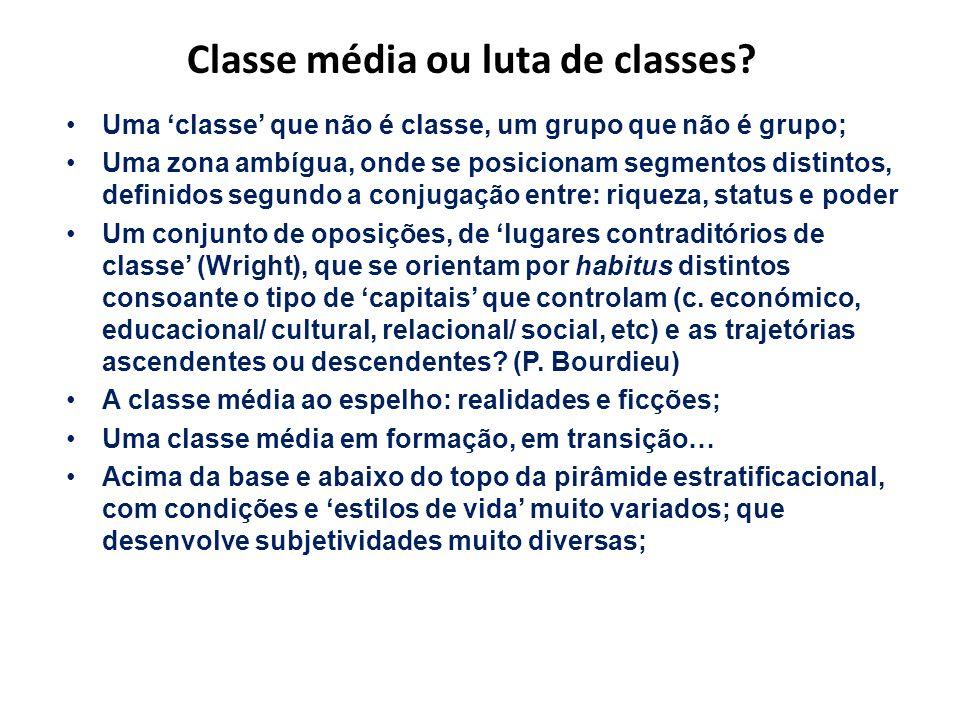 Classe média ou luta de classes