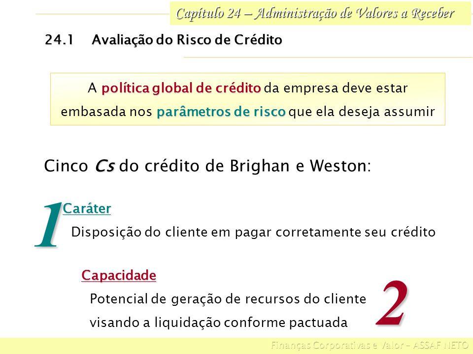 1 2 Cinco Cs do crédito de Brighan e Weston: