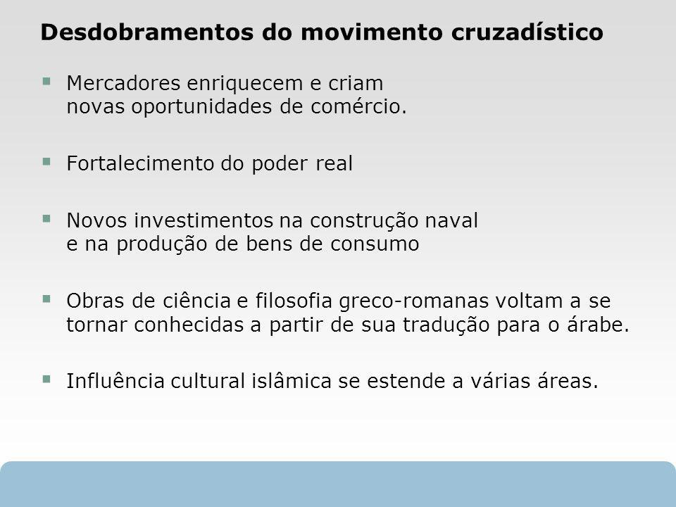 Desdobramentos do movimento cruzadístico
