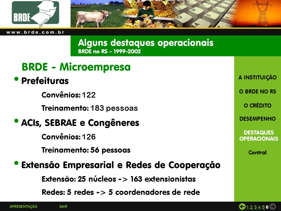 BRDE - Microempresa Alguns destaques operacionais Prefeituras