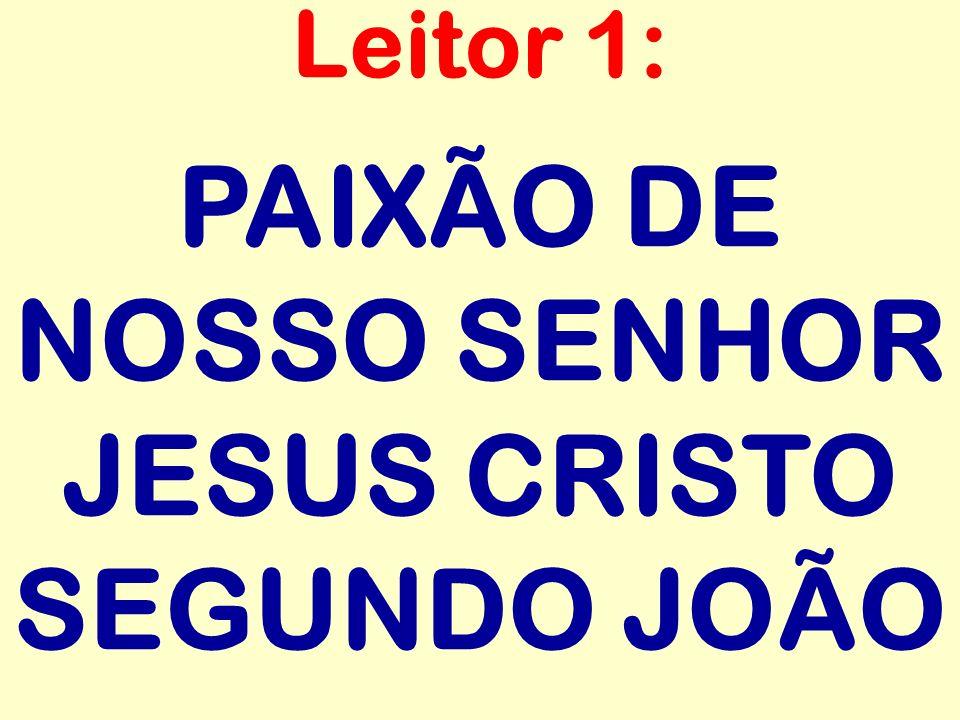 PAIXÃO DE NOSSO SENHOR JESUS CRISTO SEGUNDO JOÃO