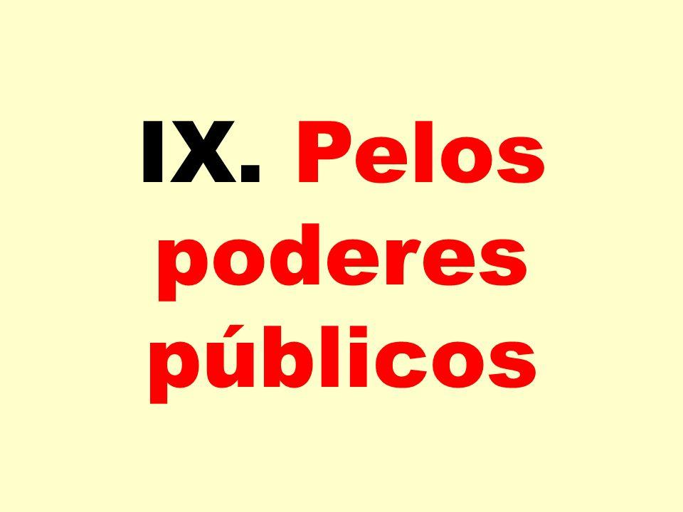 IX. Pelos poderes públicos