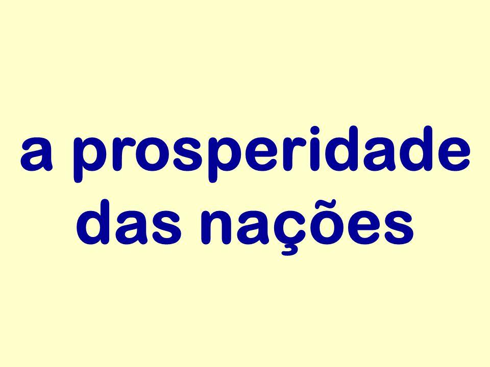 a prosperidade das nações