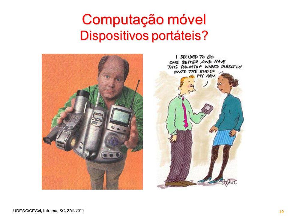 Computação móvel Dispositivos portáteis