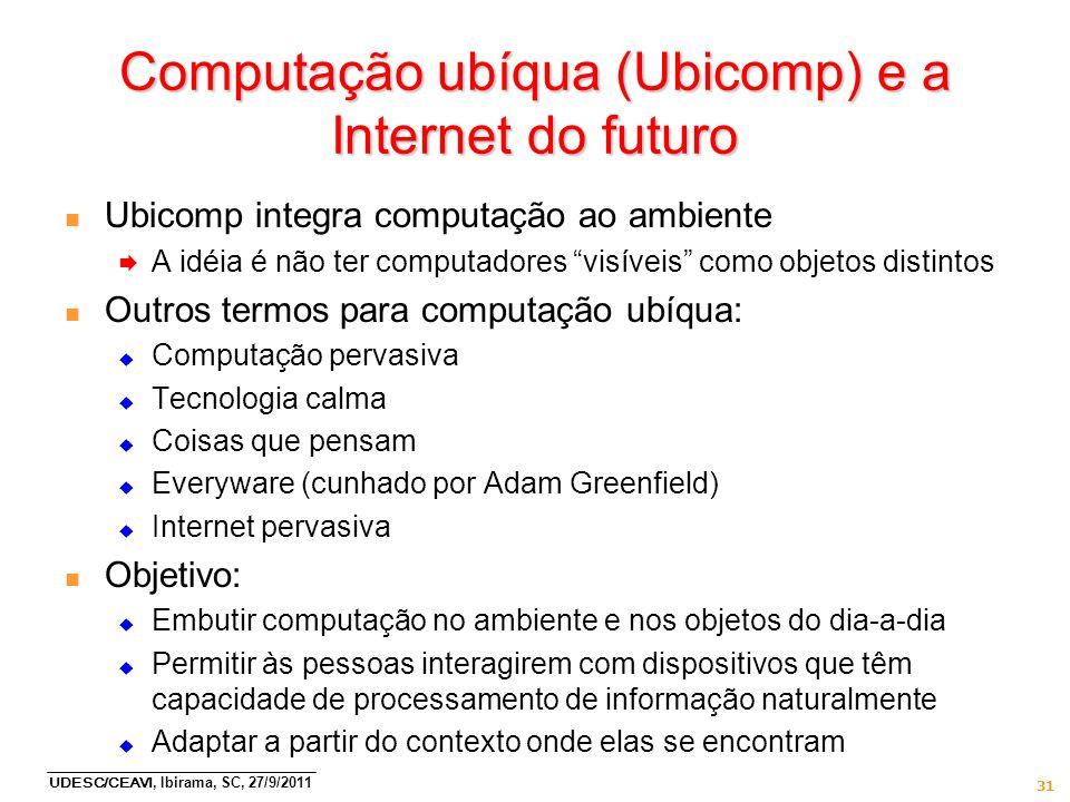 Computação ubíqua (Ubicomp) e a Internet do futuro