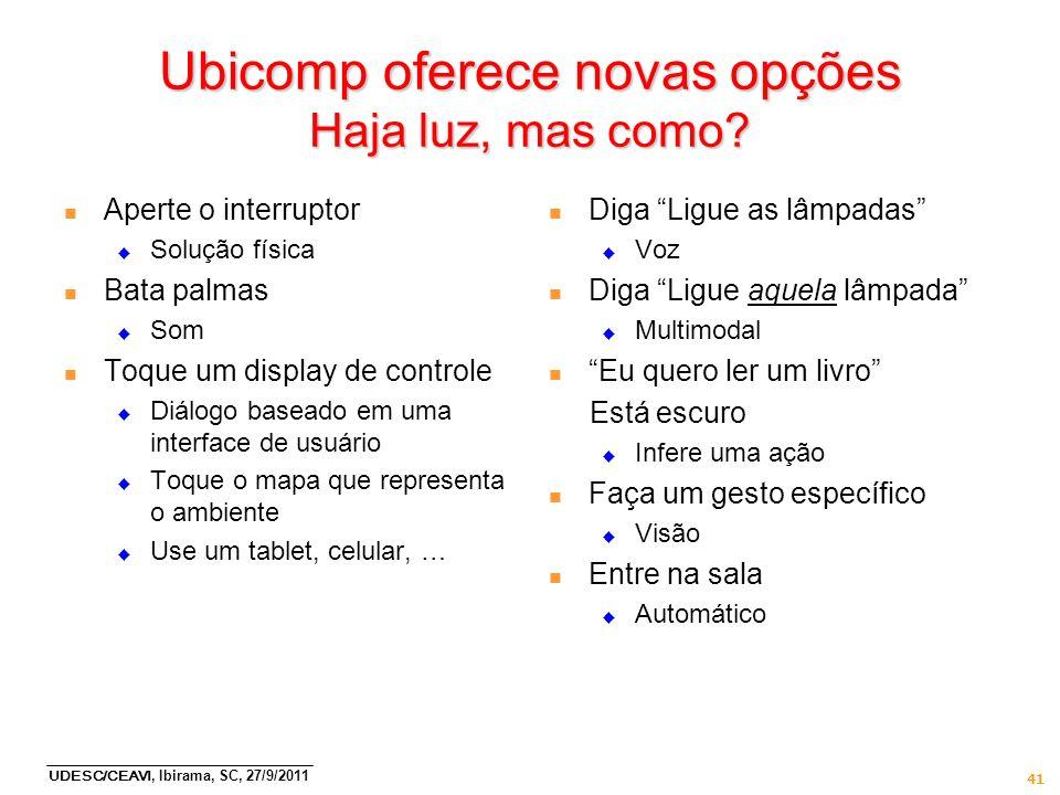 Ubicomp oferece novas opções Haja luz, mas como
