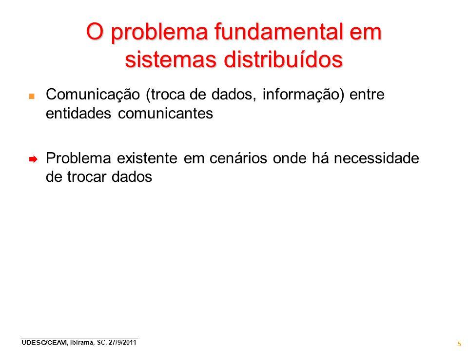 O problema fundamental em sistemas distribuídos