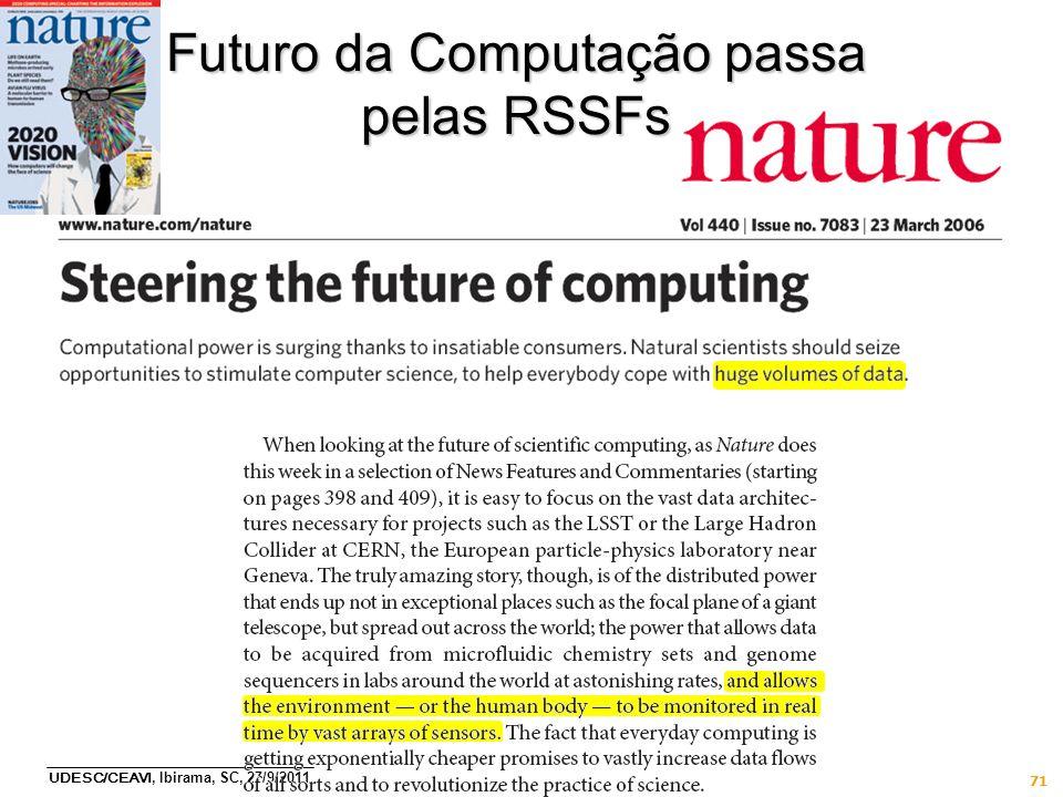 Futuro da Computação passa pelas RSSFs