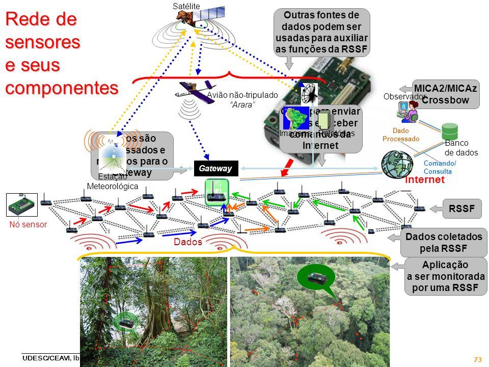 Rede de sensores e seus componentes
