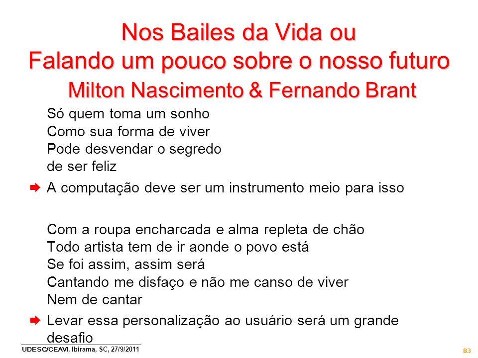 Nos Bailes da Vida ou Falando um pouco sobre o nosso futuro Milton Nascimento & Fernando Brant