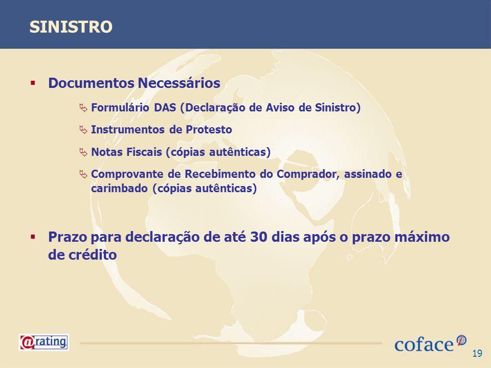 SINISTRO Documentos Necessários