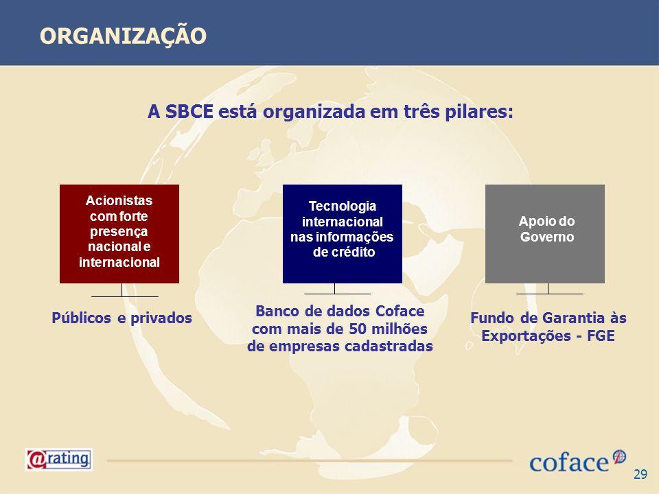 ORGANIZAÇÃO A SBCE está organizada em três pilares: