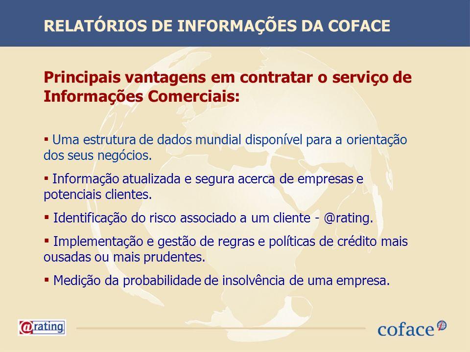 RELATÓRIOS DE INFORMAÇÕES DA COFACE