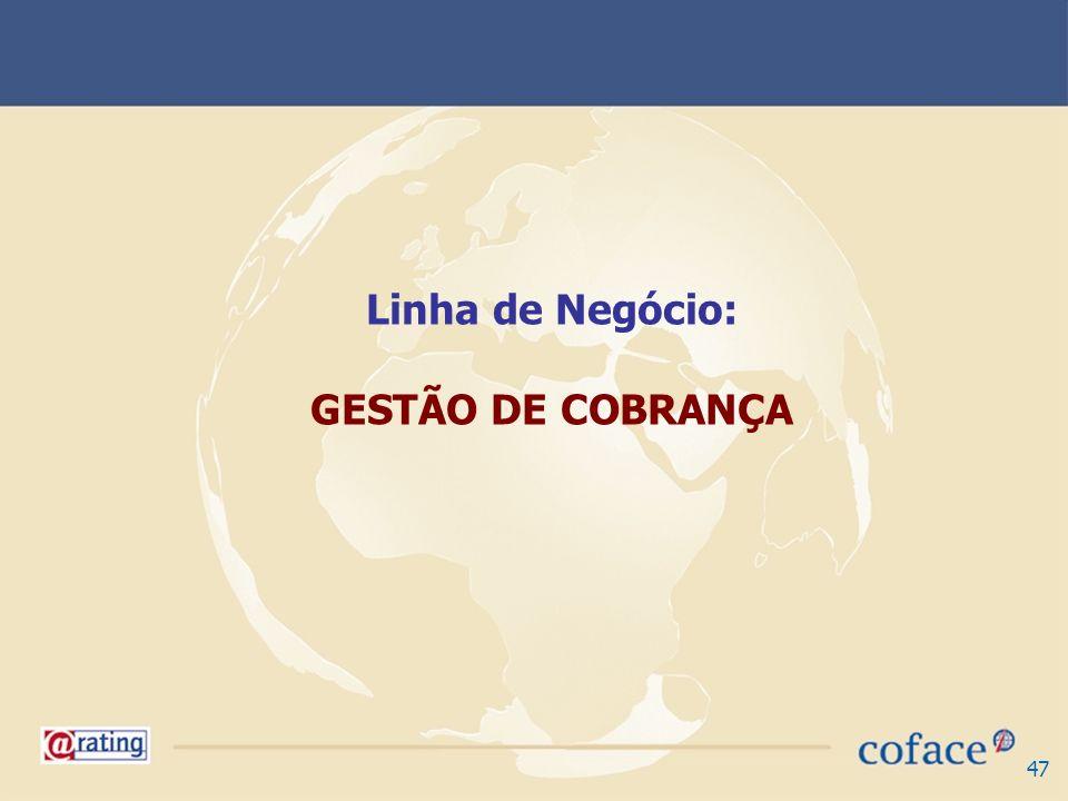 Linha de Negócio: GESTÃO DE COBRANÇA