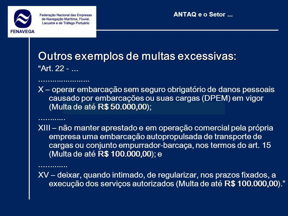 Outros exemplos de multas excessivas: