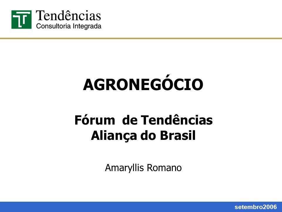 AGRONEGÓCIO Fórum de Tendências Aliança do Brasil Amaryllis Romano