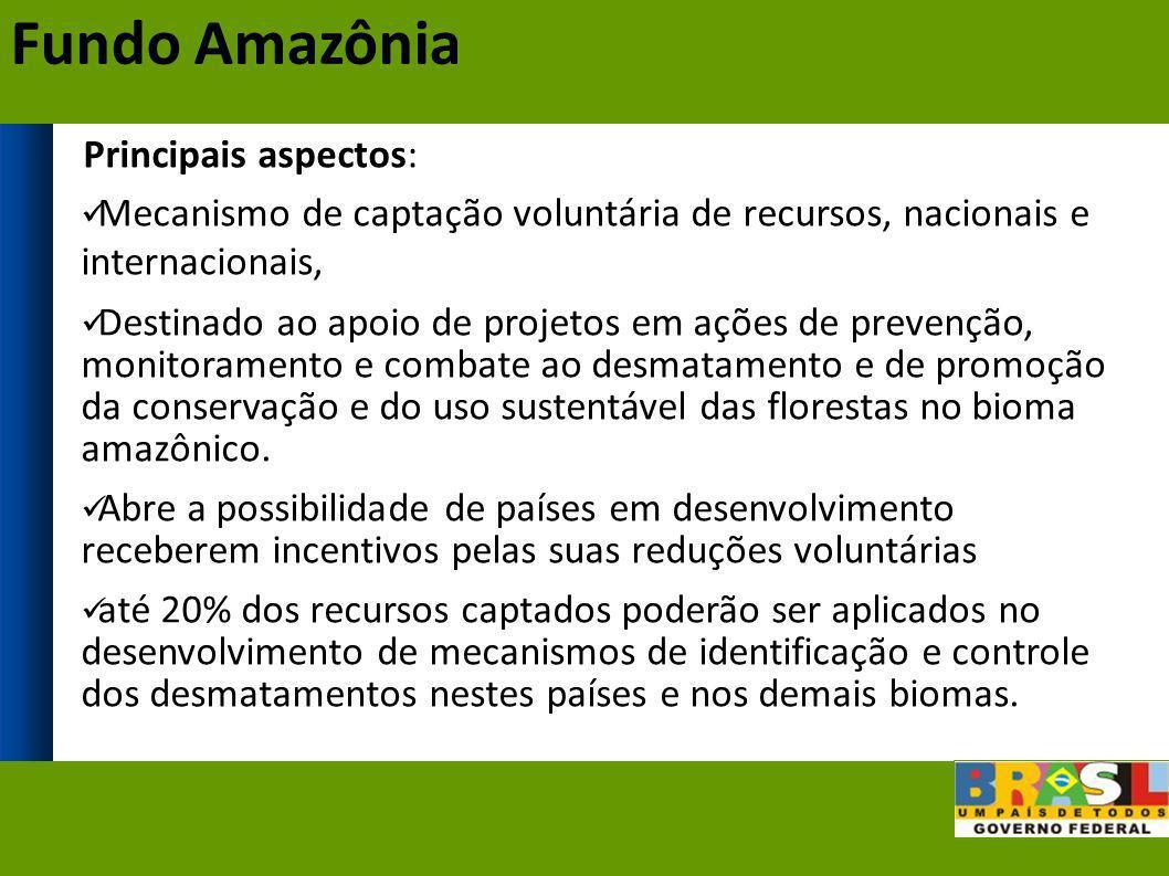 Fundo Amazônia Principais aspectos: