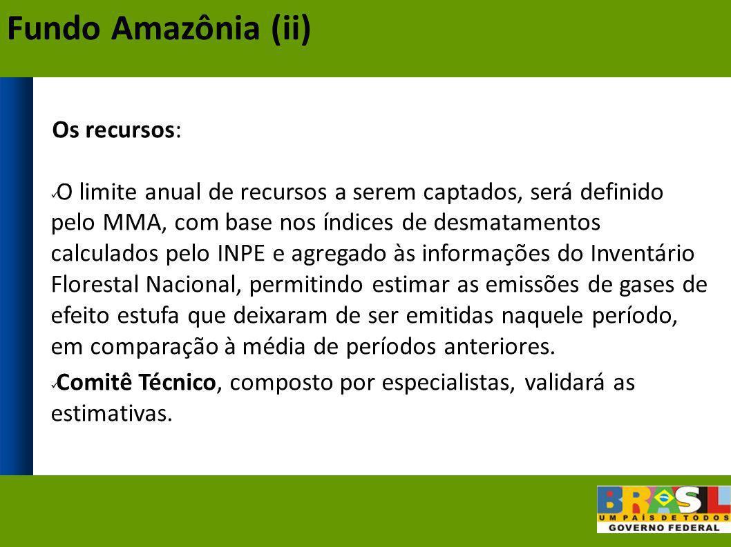 Fundo Amazônia (ii) Os recursos: